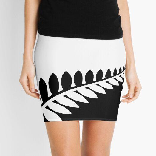 New Zealand - Black & White Flag Mini Skirt