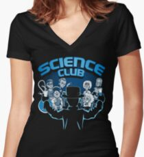 Science Club Women's Fitted V-Neck T-Shirt