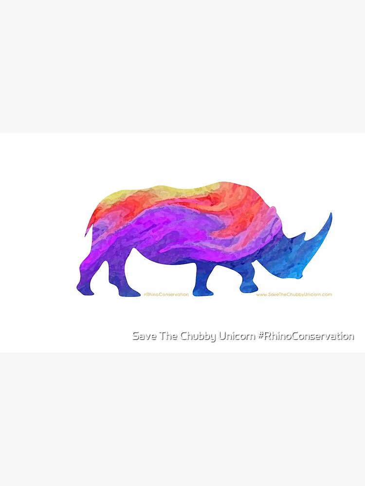 Save The Chubby Unicorn Rainbow Design by everymedia