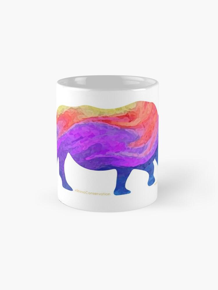 Alternate view of Save The Chubby Unicorn Rainbow Design Mug