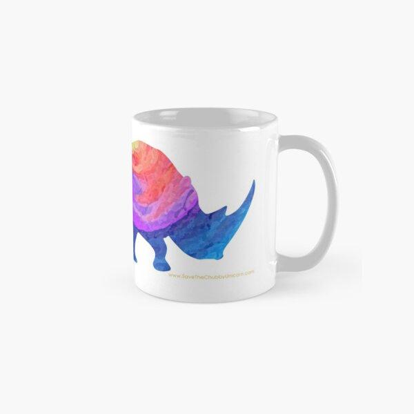 Save The Chubby Unicorn Rainbow Design Classic Mug