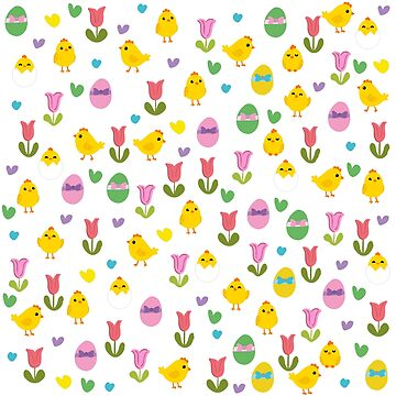 Easter - chick and tulips pattern by ValentinaHramov