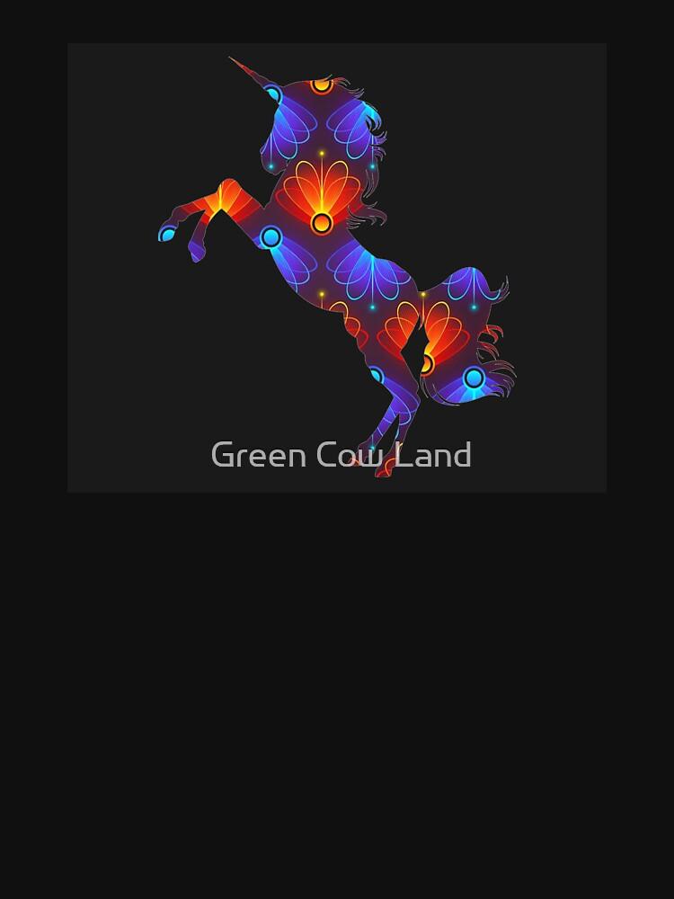 Rotes und blaues Einhorn von KaylinArt