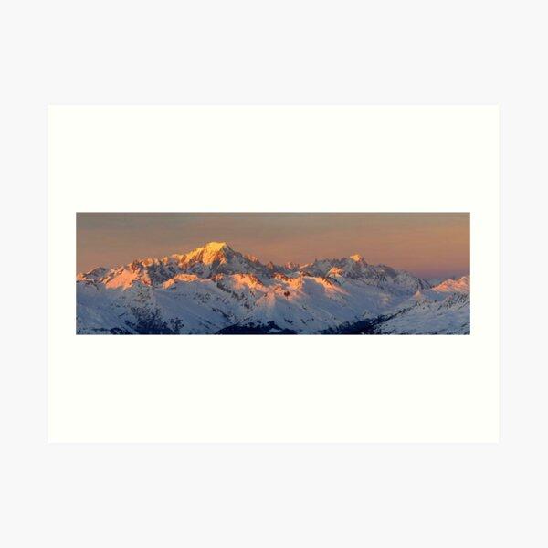 Photo panoramique du Mont Blanc Impression artistique