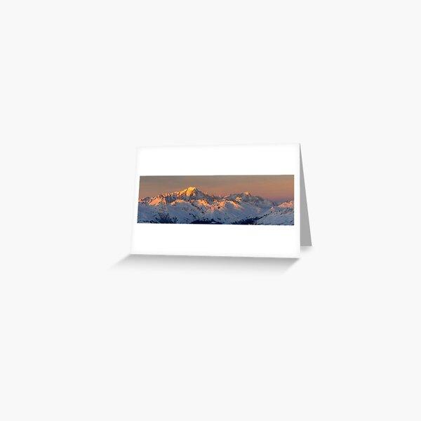 Photo panoramique du Mont Blanc Carte de vœux