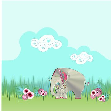 MOTHER ELEPHANT 254. by sana90