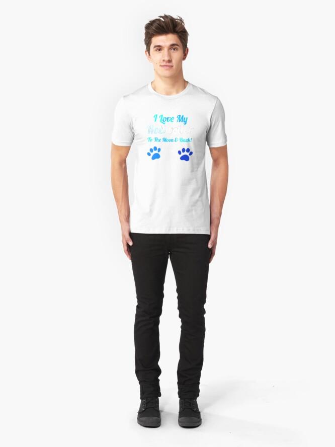 Alternative Ansicht von Ich liebe meinen Rotreiler bis zum Mond und Slim Fit T-Shirt