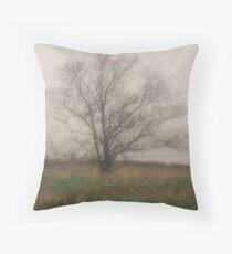 Tree in Fog, Yarmouth Nova Scotia Throw Pillow