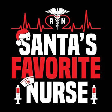 Christmas Nurse Santa Hos Pun Xmas Apparel by CustUmmMerch