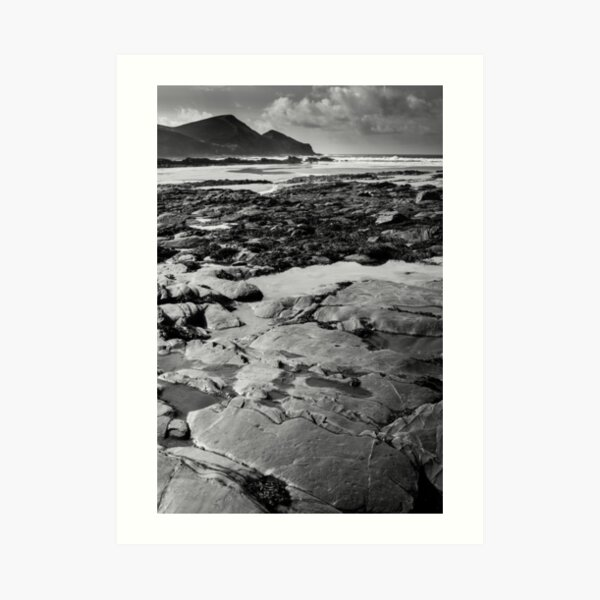 Crackington Rock Pools Art Print
