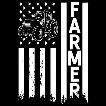 Farmer USA Flag Farming Apparel Gift by CustUmmMerch