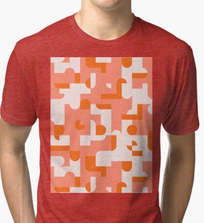 Puzzle Tiles #redbubble #pattern Tri-blend T-Shirt