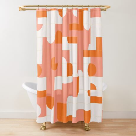 Puzzle Tiles #redbubble #pattern Shower Curtain