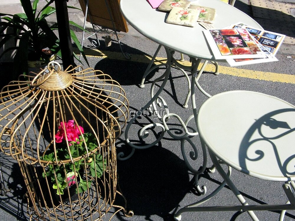 TABLE AND CHAIRS by gothgirl