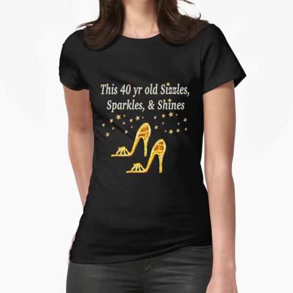 GORGEOUS GOLD DIVA DE 40 AÑOS Camiseta entallada
