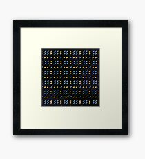 Space Invader Rocket Ship Pattern Framed Print