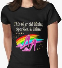 FABULOUS 40 YR OLD SHOE QUEEN Women's Fitted T-Shirt