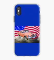 1961 Studebaker Hawk Coupe With American Flag iPhone Case