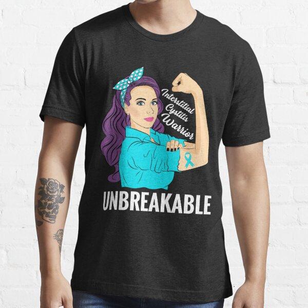 Interstitial Cystitis Awareness IC Warrior Unbreakable Essential T-Shirt