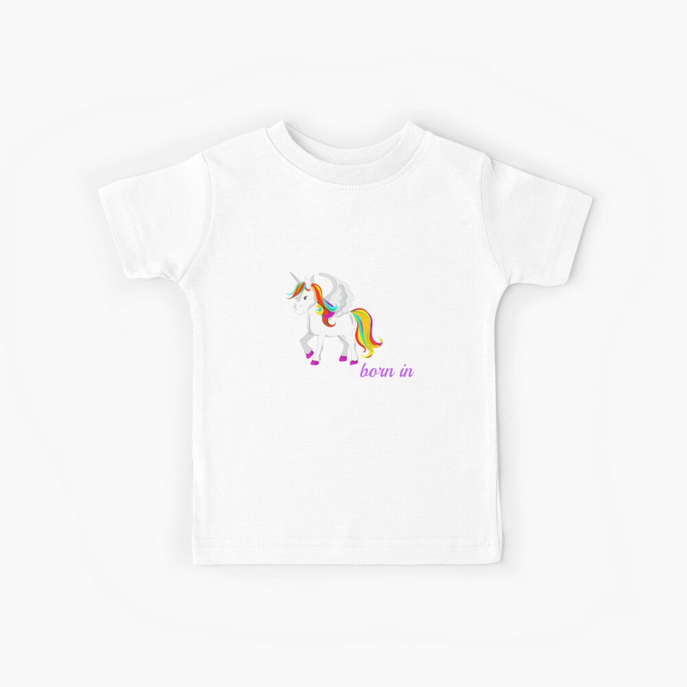 Einhorn in Alaska geboren Kinder T-Shirt