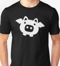 Flying Pig White Unisex T-Shirt