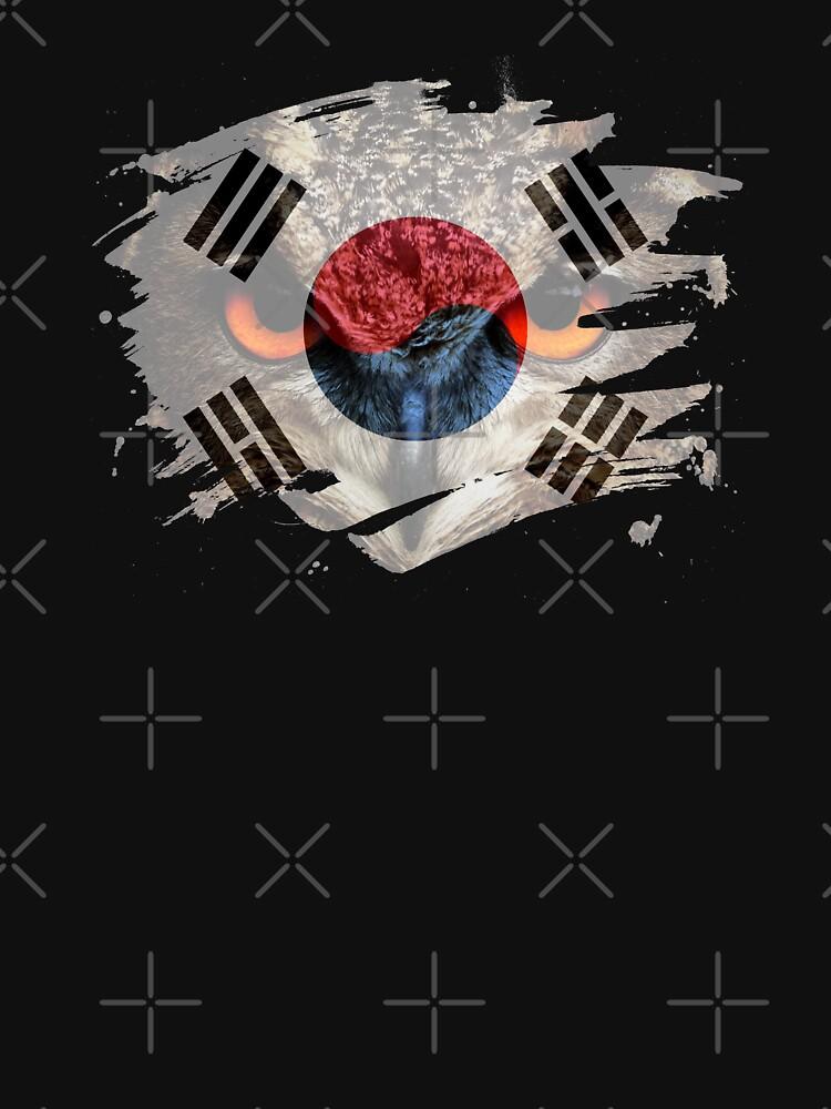 Korea Flag and Menacing Owl by ockshirts