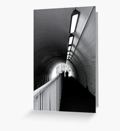 Tunnel Figure Greeting Card