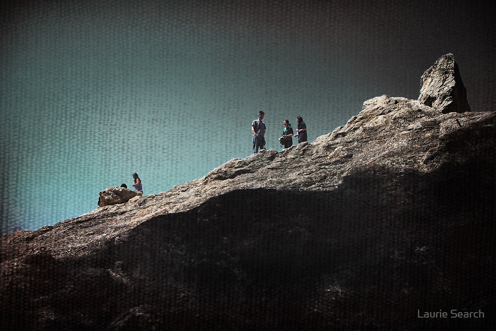 Rock Gathering by Laurie Search