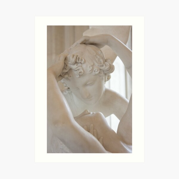 Psyche revived by Cupid's kiss - close up Art Print