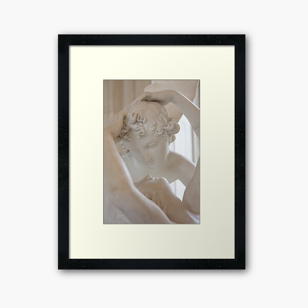 Psyche revived by Cupid's kiss - close up Framed Art Print