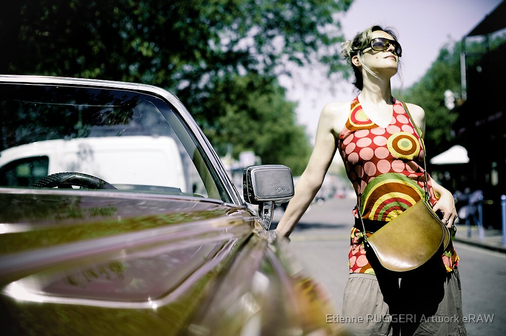 Cadillac girl by Etienne RUGGERI Artwork