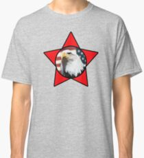 Bald Eagle & Red Star T-Shirt Classic T-Shirt