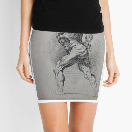 #art #adult illustration people #renaissance marble painting naked #HumanBody Mini Skirt