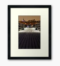 gabriels wharf lowlight Framed Print