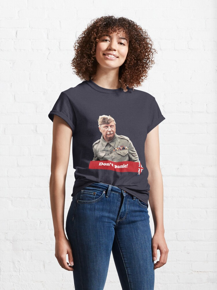 Alternate view of Dad's Army - Don't Panic Classic T-Shirt