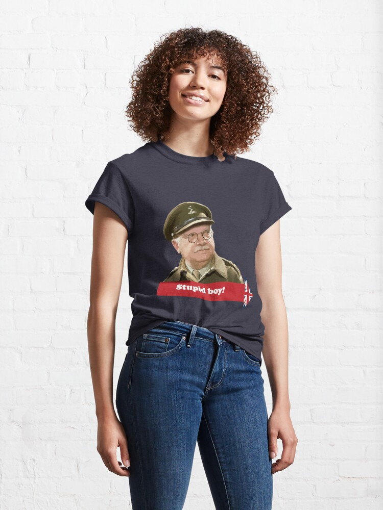 Alternate view of Dad's Army - Stupid Boy! Classic T-Shirt
