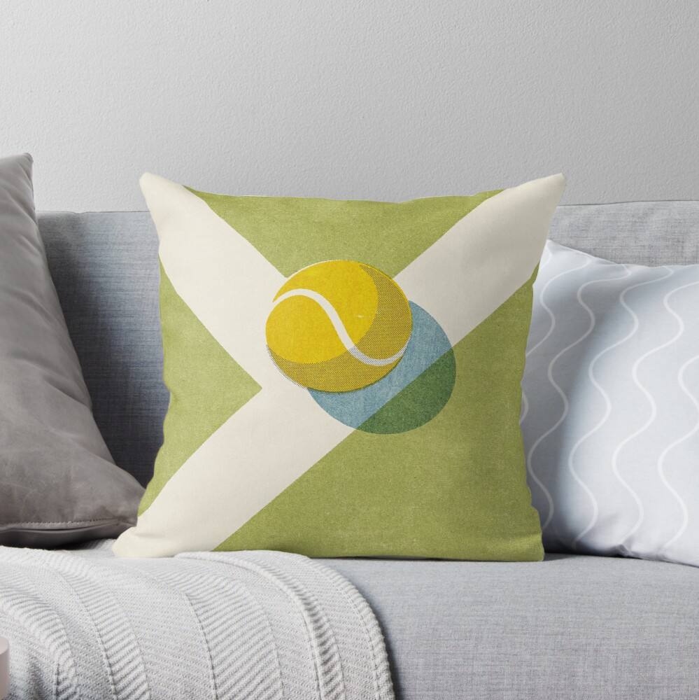 BALLS / Tennis (Grass Court) Throw Pillow