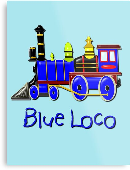 Kids Blue Loco  by Dennis Melling