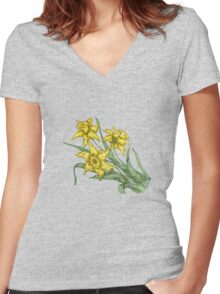 """Daffodils """"t"""" Women's Fitted V-Neck T-Shirt"""