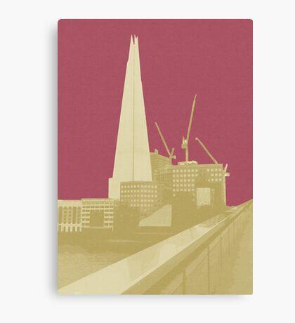London Fruit Pop Series - Raspberry Shard Canvas Print