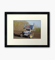 Sprintcar Slideways Framed Print