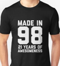 c242273b 21st Birthday Gift Adult Age 21 Year Old Men Women Unisex T-Shirt