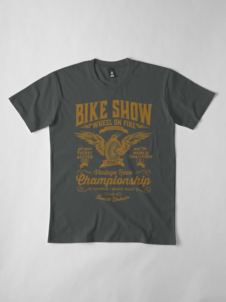 T-shirt premium ''Bike Show': autre vue