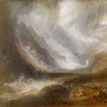 "Joseph Mallord William Turner ""Valley of Aosta - Snowstorm, Avalanche and Thunderstorm"" by ALD1"
