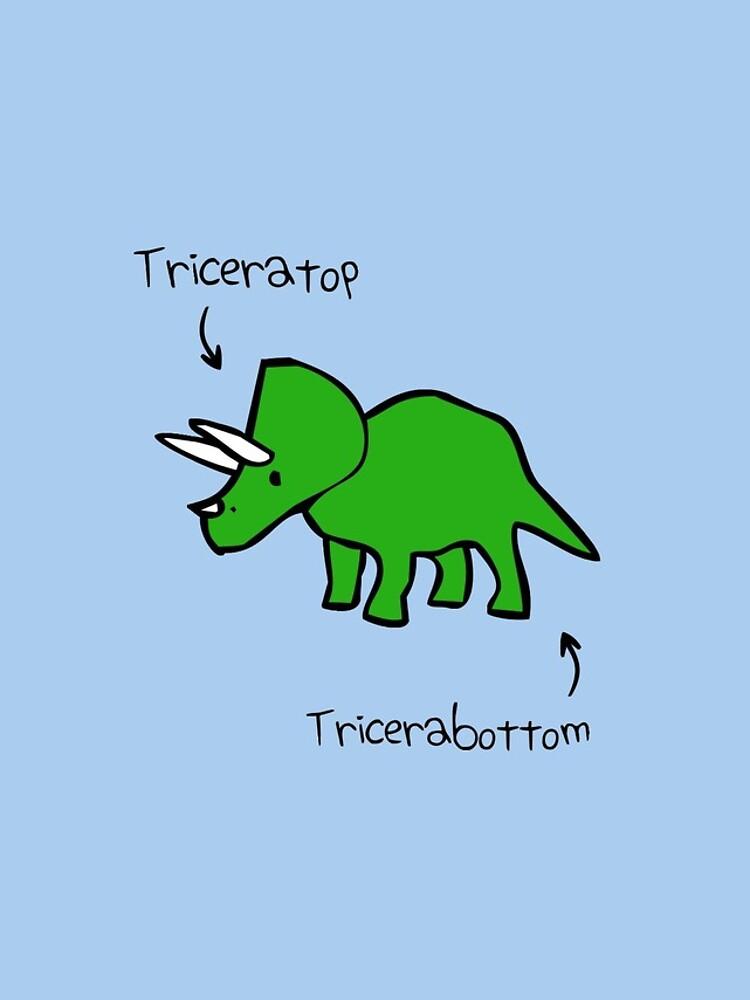 Triceratops Tricerabottom by jezkemp