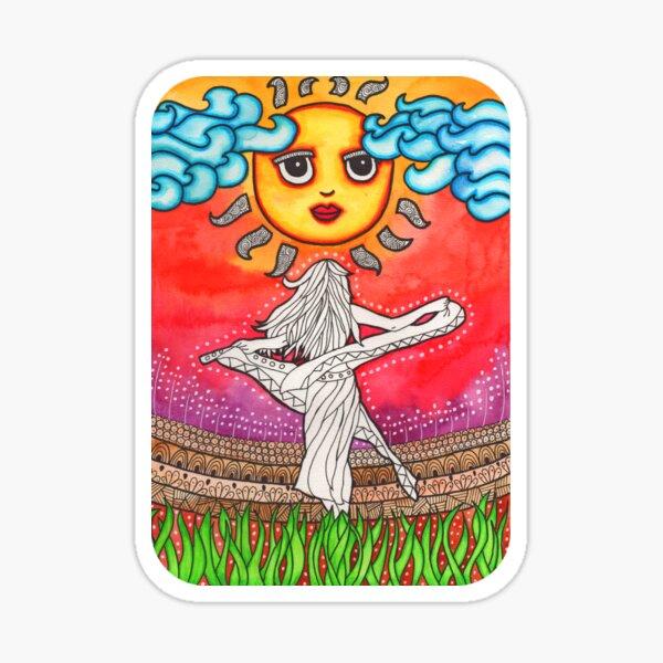 Bohemian Girl Art | Psychedelic Art | Hippie Decor | Trippy Art Sticker