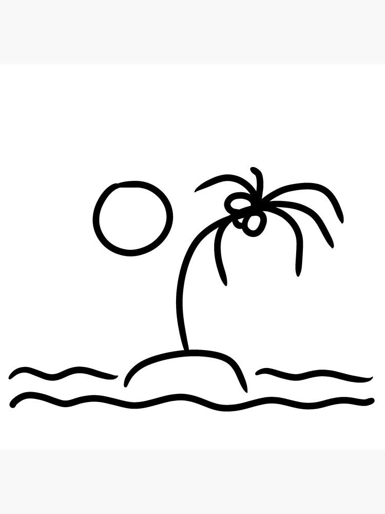 Ästhetische Palmeninsel Illustration |Surfer Style Geschenk Idee von newarts