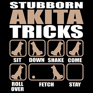 Stubborn Akita Tricks design by Vroomie