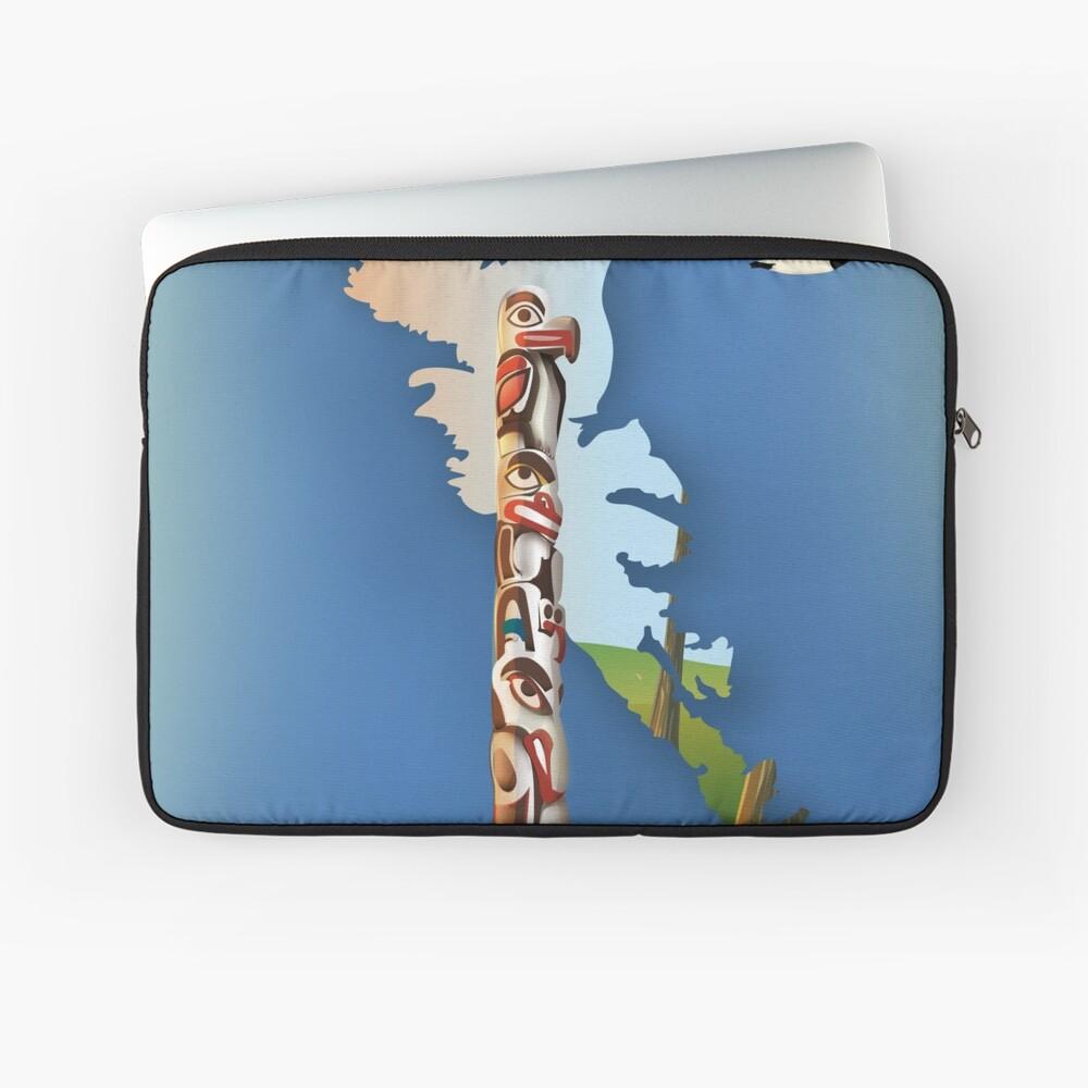 haida gwaii British Columbia Canada travel poster Laptop Sleeve