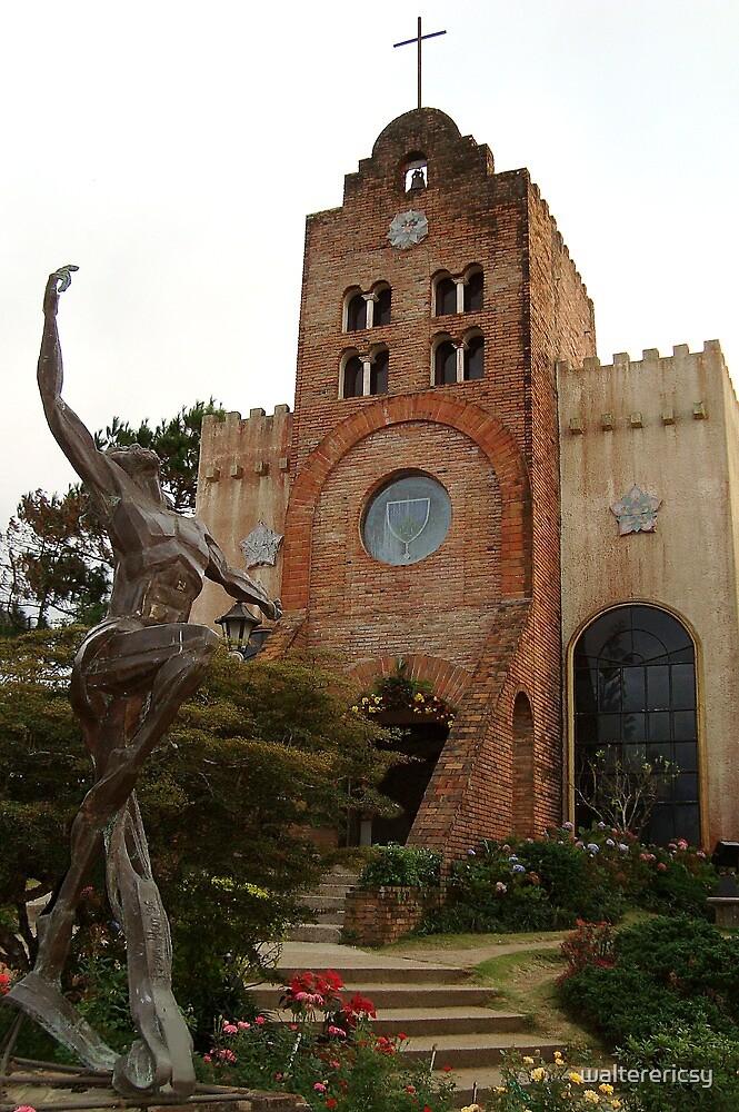 Caleruega Church and Statue in Batangas, Philippines by walterericsy